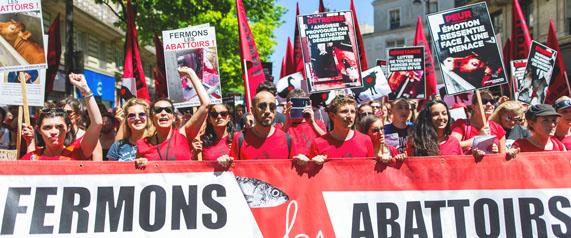 La Marche pour la fermeture des abattoirs 2017 à Paris