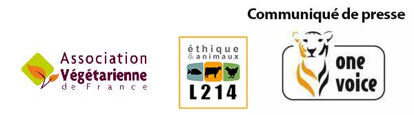 Communiqué AVF, L214, One Voice