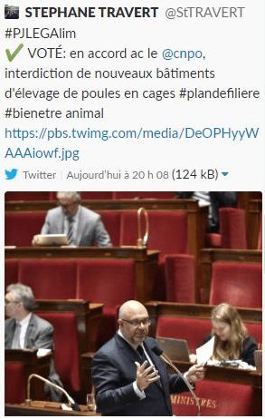 Le tweet de Stéphane Travert
