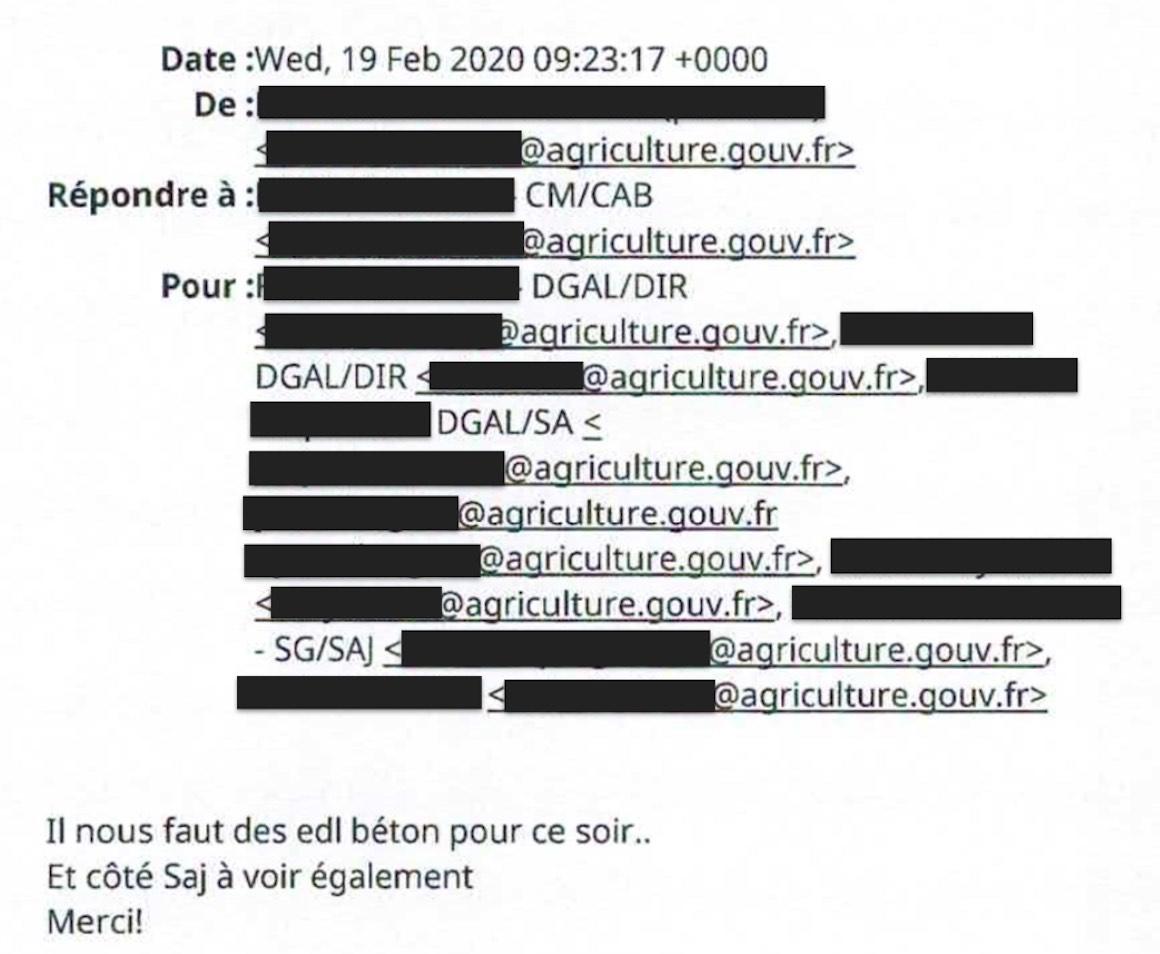 Email DGAL abattoir sobeval infractions éléments de langage