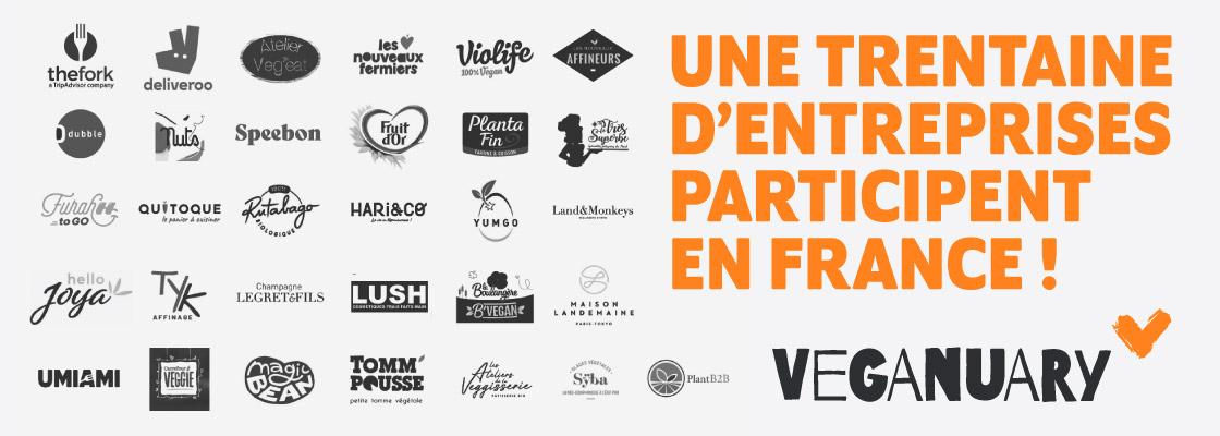 Les marques françaises qui participent à Veganuary