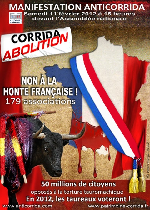 manifestation anti corrida Paris