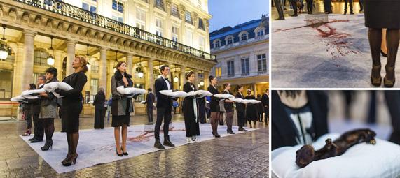 Action contre la fourrure à Paris
