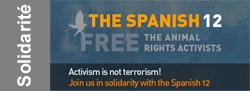 12 militants espagnols pour les animaux emprisonnés