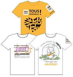 T shirts animaux