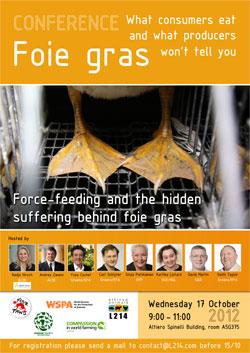 Conférence au parlement européen contre le gavage