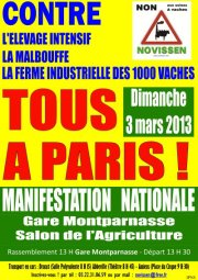 Manif 1000 vaches