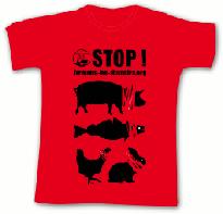 tee-shirt fermons les abattoirs coupe droite