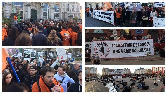Manifestation à Limoges contre les abattoirs