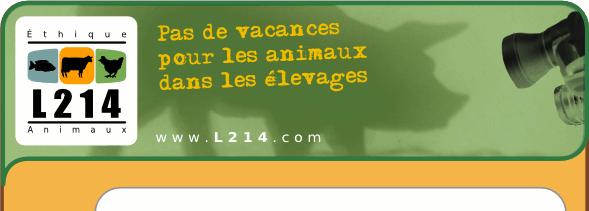 L214: Pas de vacances pour les animaux dans les élevages