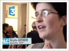 Brigitte Gothière dans le reportage Pièce à conviction