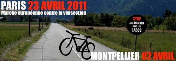 23 Avril 11 Marche contre la Vivisection  Velo-contre-vivisection