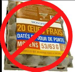 Stop aux oeufs de batterie