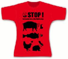 tee-shirt fermons les abattoirs coupe cintrée