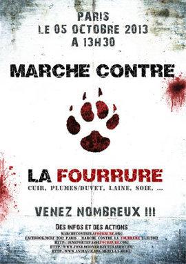 Affiche de la marche contre la fourrure