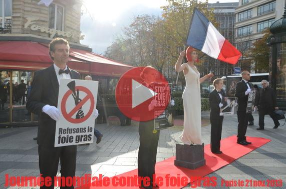 Vidéo du happening à Paris