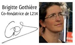 Brigitte Gothière, co-fondatrice de L214