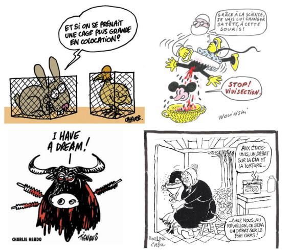 Charb, Cabu, Wolinski, Tignous