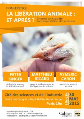Conférence L214 Les Cahiers antispécistes à Paris