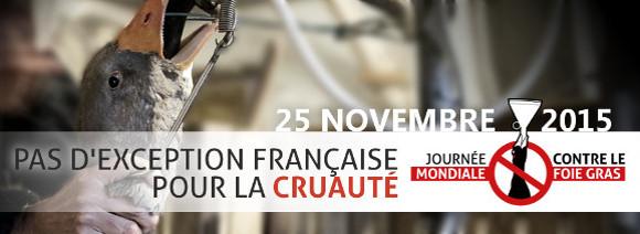 Journée mondiale contre le foie gras 2015