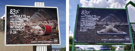 Affichage dans les rues de Clermont-Ferrand
