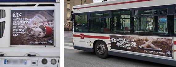 Affichage sur les bus de Clermont-Ferrand
