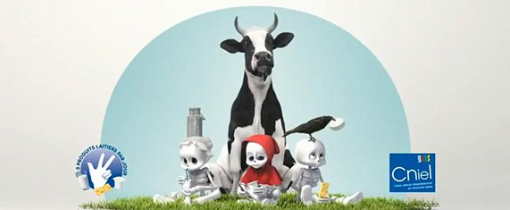 Publicité pour les produits laitiers