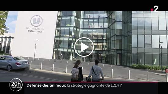 L'équipe agroalimentaire de L214 au 20 h de France 2