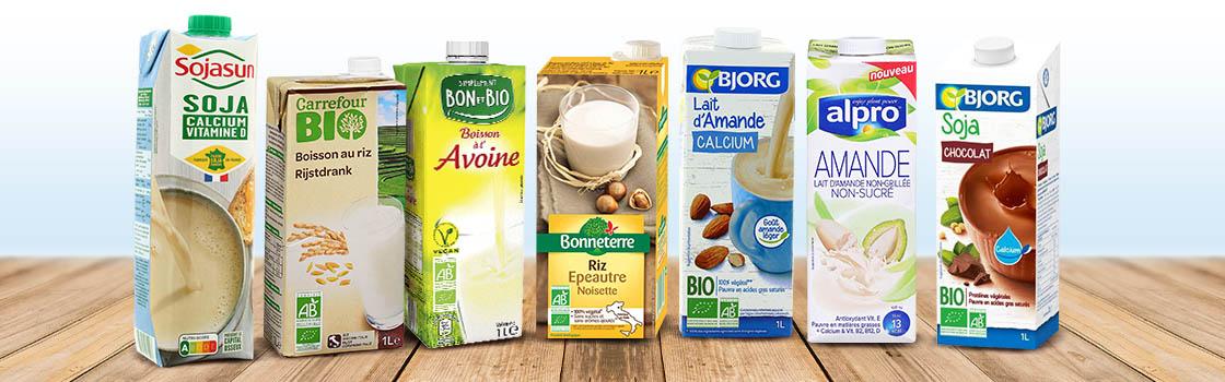Variétés de laits végétaux