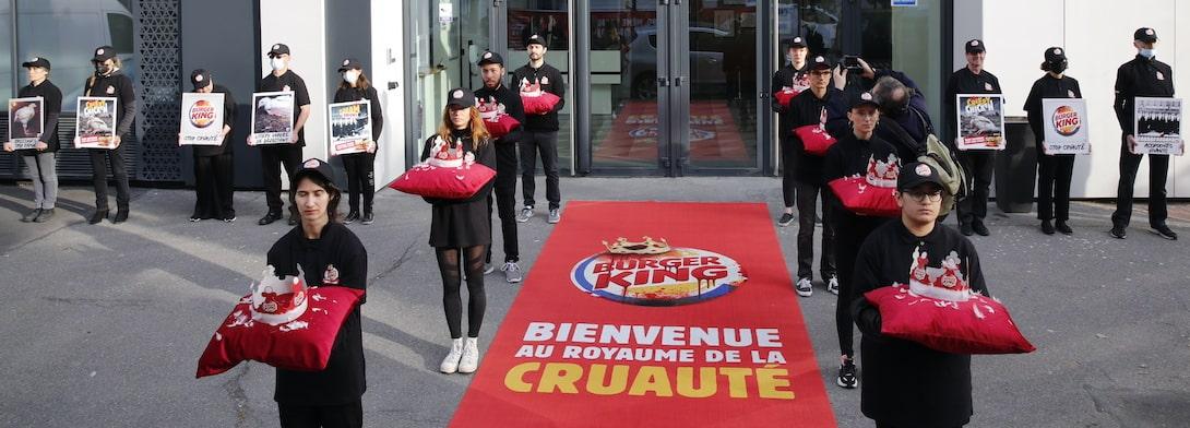 Action au siège de Burger King à Paris